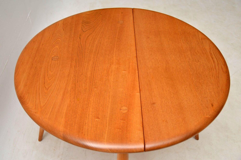 vintage ercol drop leaf coffee table