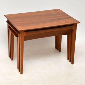danish walnut nest of three tables