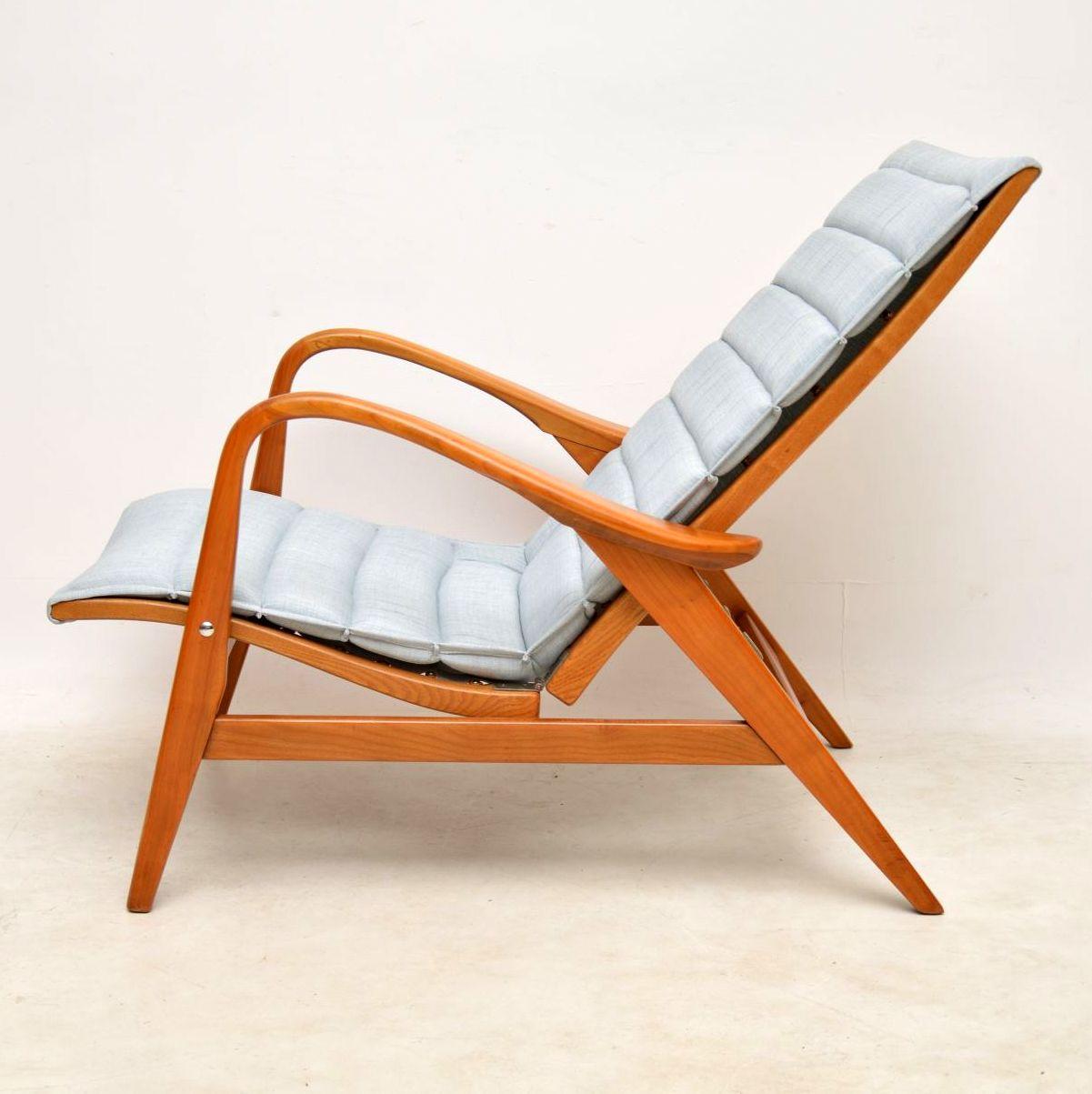 vintage swedish reclining armchair