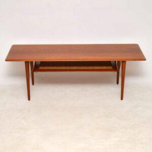 danish teak vintage coffee table peter hvidt orla molgaard nielsen
