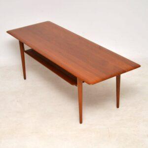 1960's Danish Teak Coffee Table by Peter Hvidt & Orla Molgaard Nielsen