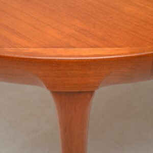 danish teak extending dining table by kofod larsen