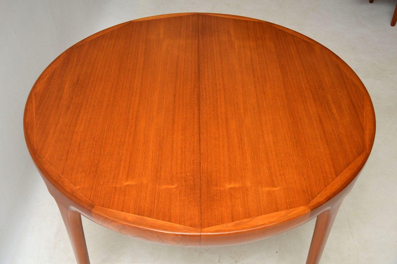 danish teak extending dining table by kofod larsen