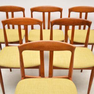 danish teak vintage dining chairs
