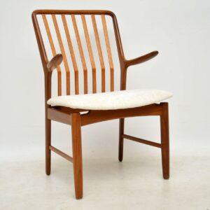 1960's Vintage Set of 6 Danish Teak Dining Chairs by Svend Aage Madsen