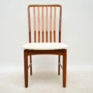 danish teak vintage dining chairs svend aage madsen