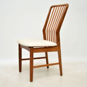 1960's Vintage Set of 6 Danish Teak Dining Chairs by Svend Aage Madsen