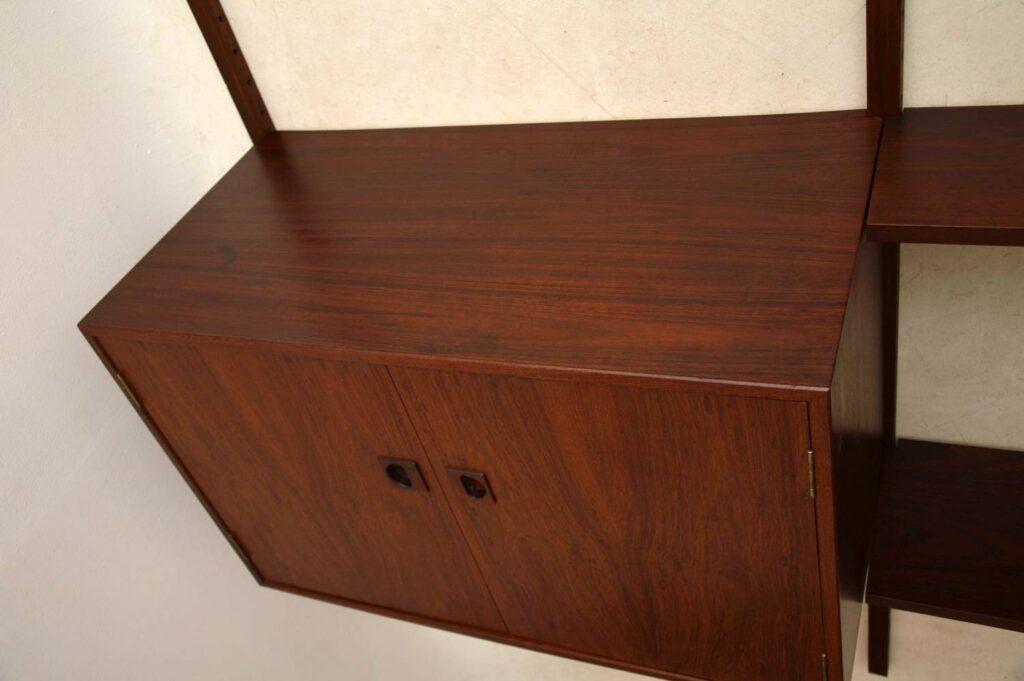 danish rosewood pas system bookcase cabinet cado royal system