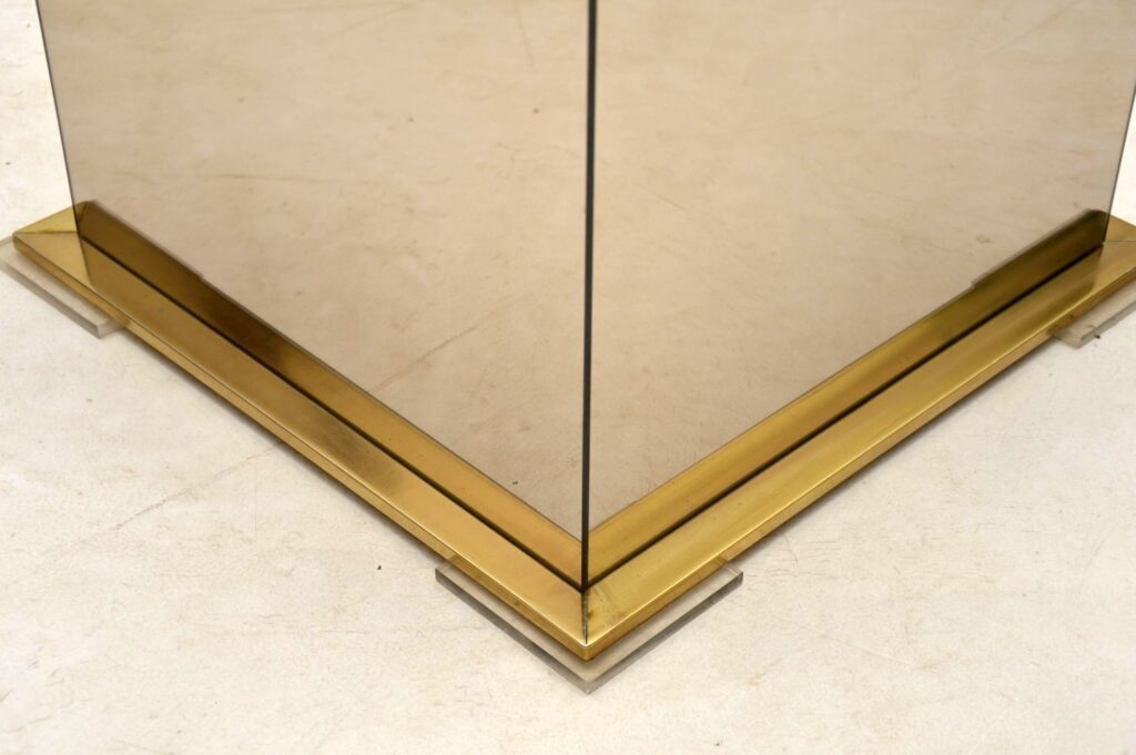 vintage brass and glass planter box