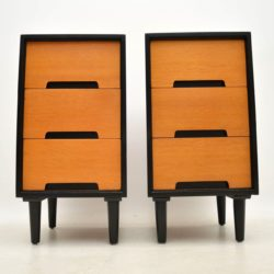pair of vintage oak bedside chests john and sylvia reid