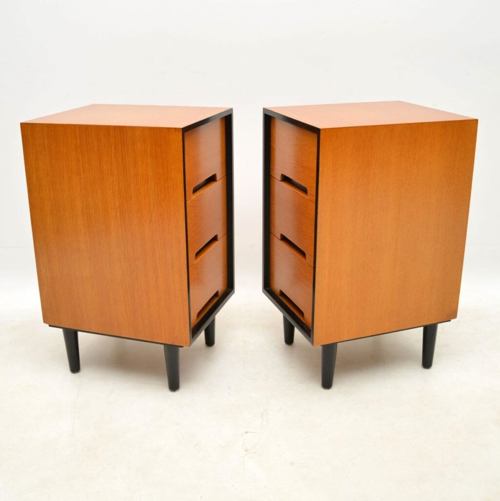 pair of vintage oak bedside chests john and sylvia reid