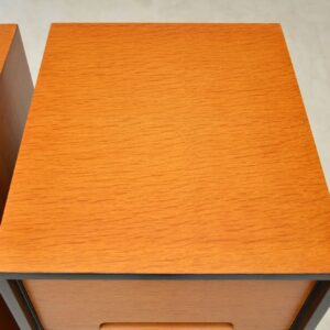 1950's Pair of Vintage Oak Bedside Chests by John & Sylvia Reid for Stag