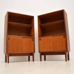pair of vintage teak cabinets bookcase