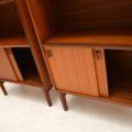1960's Vintage Pair of Teak Open Bookcase Cabinets