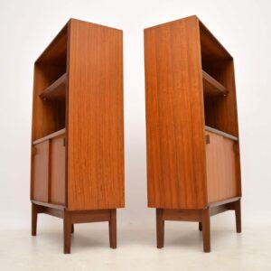 pair of vintage teak cabinets bookcase