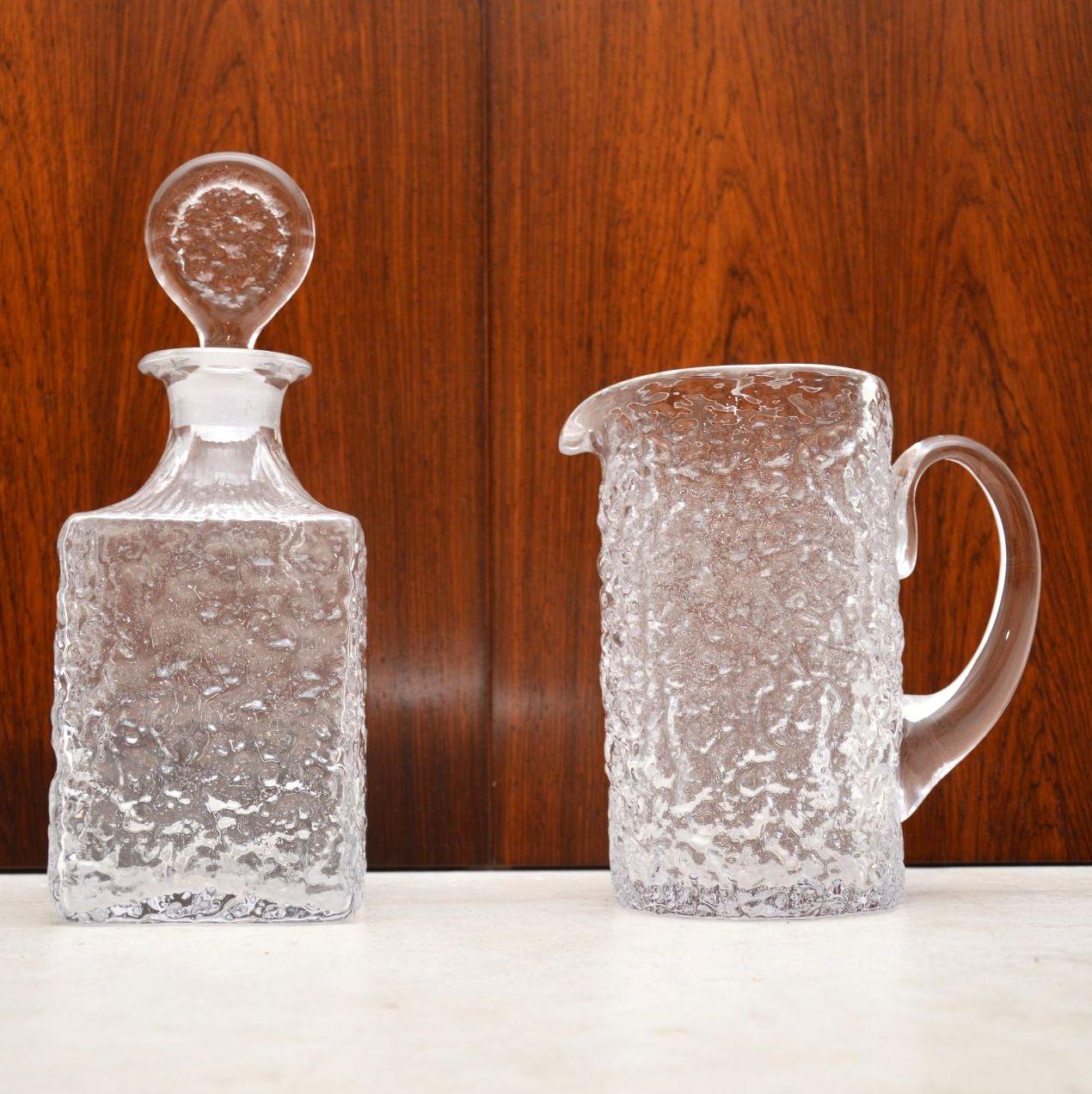 vintage whitefriars bark jug decanter geoffrey baxter