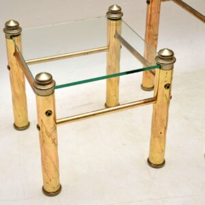 vintage italian brass and glass nest of tables