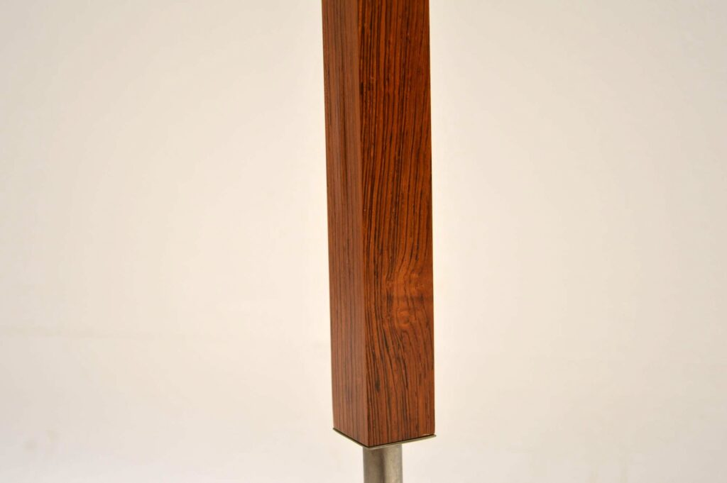 vintage danish rosewood chrome lamp