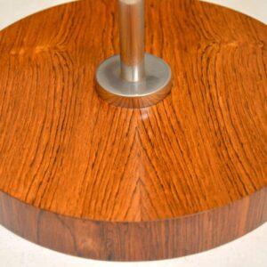 vintage danish rosewood chrome lamp