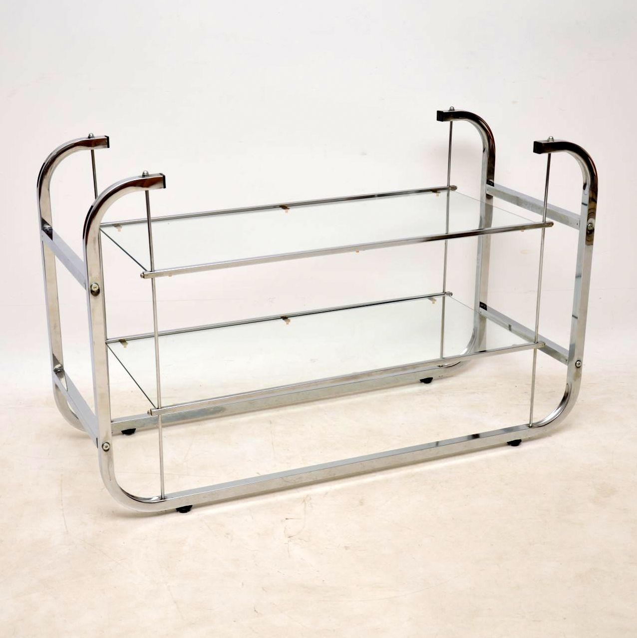 vintage chrome side table tv stand