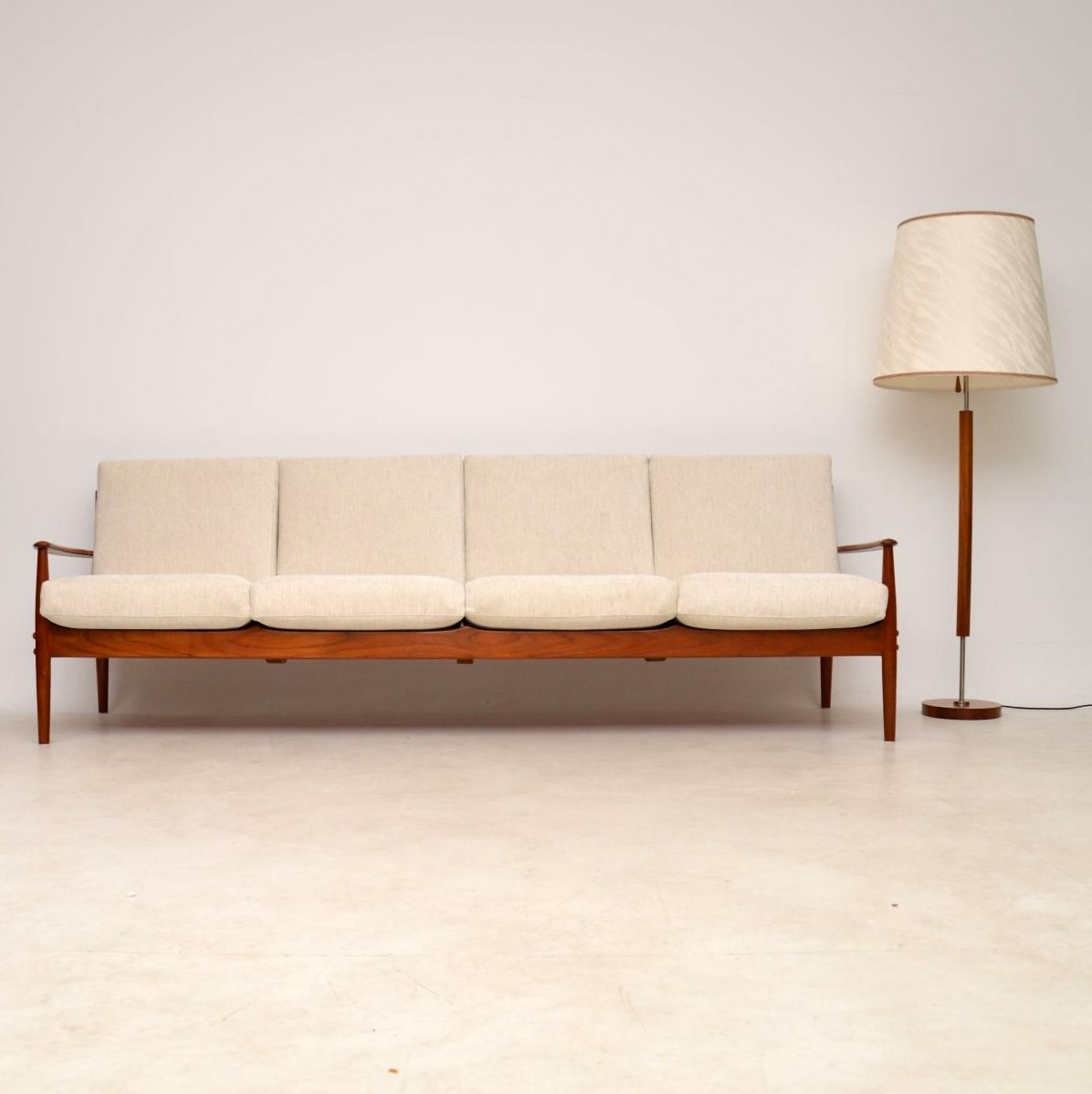 1960\'s Danish Teak Four Seat Sofa by Grete Jalk for France ...