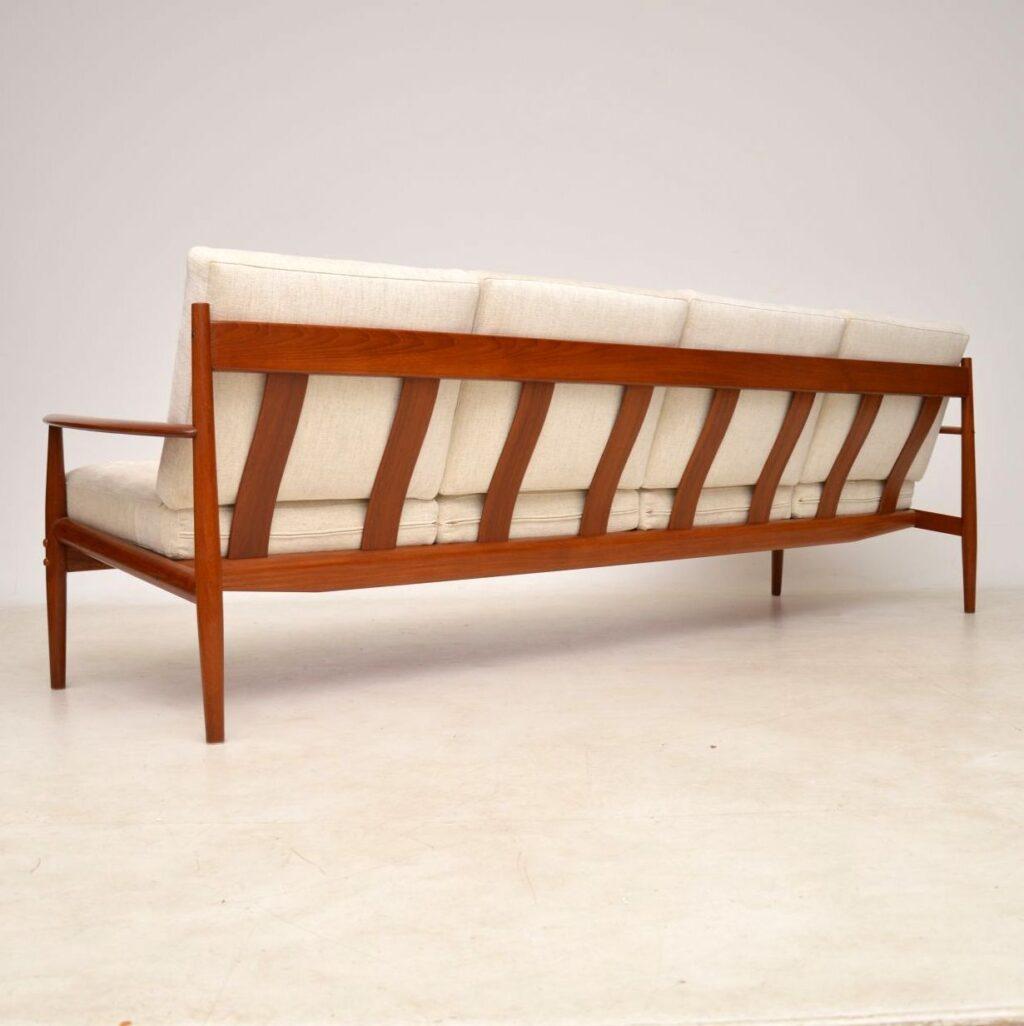 danish teak four seat sofa by grete jalk