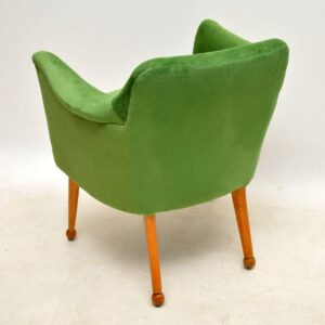 1950's Newly Upholstered Vintage Armchair / Desk Chair
