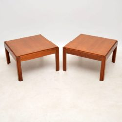 1960's Pair of Vintage Danish Teak Side Tables by Illum Wikkelso
