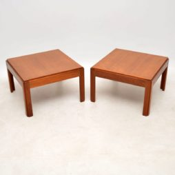 pair of danish teak side tables by illum wikkelso plexus