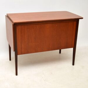 1960's Vintage Danish Teak Drop Leaf Desk