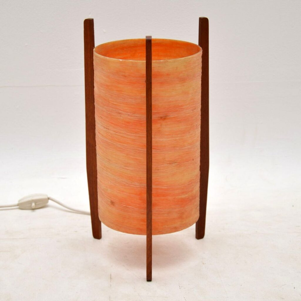 vintage fiberglass rocket lamp