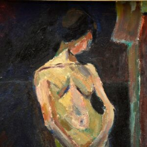 original vintage oil painting austin ruddy nude