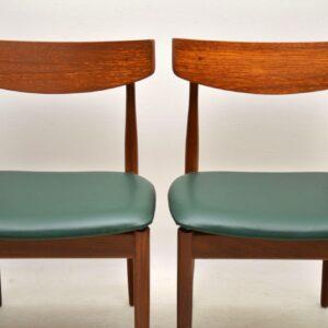 1960's Set of Four Vintage Teak Dining Chairs by Kofod Larsen G- Plan