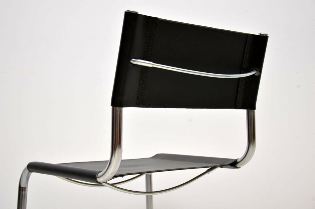 vintage leather chrome dining chairs mart stam marcel breuer