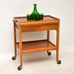 1960's Vintage Walnut Drinks Trolley