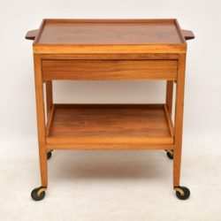 vintage walnut drinks trolley