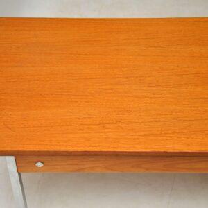 1960's Vintage Teak & Chrome Coffee Table
