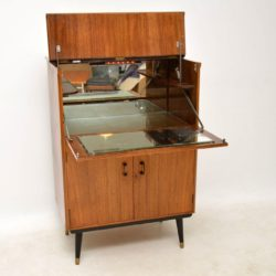 vintage walnut drinks cabinet