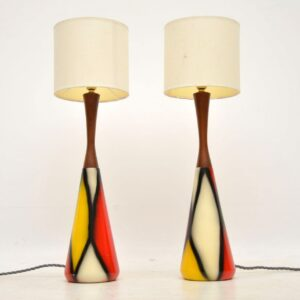 1960's Pair of Vintage Table Lamps