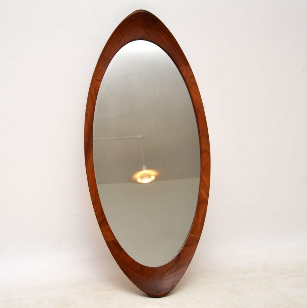 1960's vintage swedish teak mirror