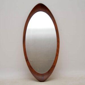 1960's Vintage Swedish Teak Mirror by G & T