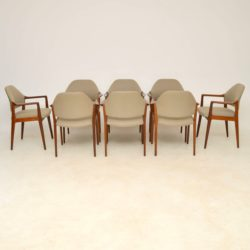1960's Set of 8 Vintage Danish Dining Chairs in Afromosia