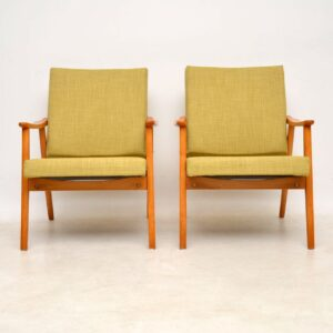 1950's Vintage Pair of Danish Armchairs