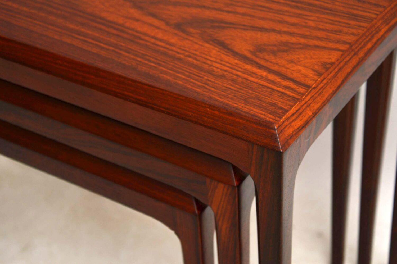 danish rosewood nest of tables johannes andersen