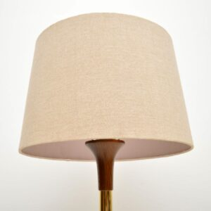 1960's Vintage Brass & Wenge Floor Lamp