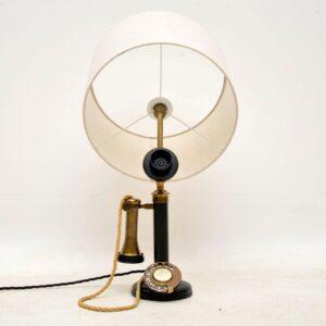 antique vintage telephone lamp