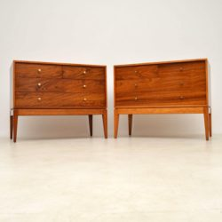 1950's Pair of Vintage Rosewood Chests by Uniflex