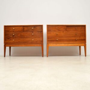 pair of rosewood mahogany chests of drawers