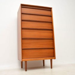 1960's Vintage Mahogany & Rosewood Chest of Drawers by Austinsuite