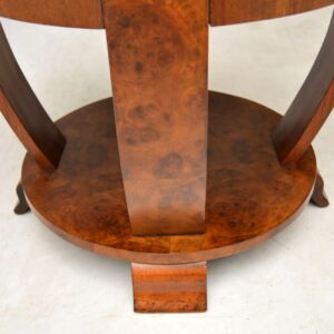 1920's Art Deco Burr Walnut Coffee Table